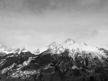 Scenic View of Snowcapped Mountains Against Sky Royalty Free Stock Images