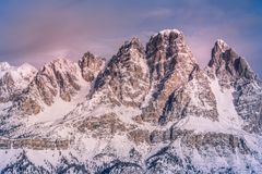 Scenic View of Snowy Mountain Royalty Free Stock Photo