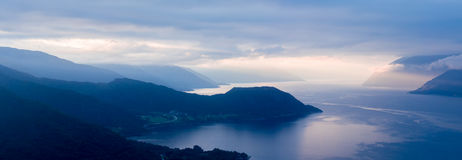 Scenic view of sognefjorden norway Stock Image