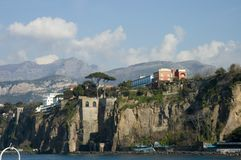 Scenic view of Sorrento Peninsula 2. Close view of Sorrento Bay, Italy royalty free stock photography