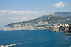 Scenic view of Sorrento Peninsula Stock Photo