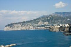 Scenic view of Sorrento Peninsula. Scenic view of Sorrento bay, Italy Stock Photo