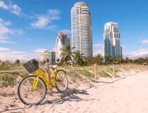 Scenic view at South Beach,Miami Stock Image