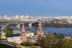 A scenic view of the spring Nizhny Novgorod, Russia Royalty Free Stock Photography