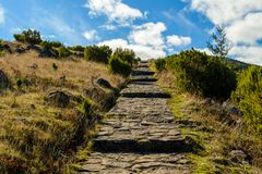 Scenic view from Stairs to Heaven on the island of Madeira, Portugal Stock Photos