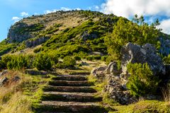 Scenic view from Stairs to Heaven on the island of Madeira, Portugal Stock Image