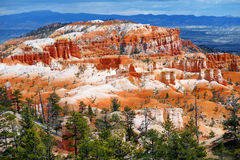 Scenic view of stunning red sandstone hoodoos in Bryce Canyon National Park Royalty Free Stock Photos