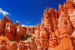 Scenic view of stunning red sandstone hoodoos in Bryce Canyon National Park Royalty Free Stock Image