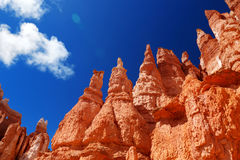 Scenic view of stunning red sandstone hoodoos in Bryce Canyon National Park Stock Photography
