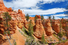 Scenic view of stunning red sandstone hoodoos in Bryce Canyon National Park Royalty Free Stock Photo