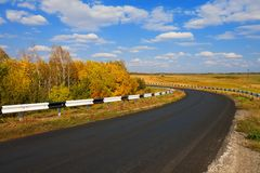 Autumn road Royalty Free Stock Photos