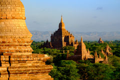 Scenic view of Sulamani temple with brick pagoda deail, Bagan, M Royalty Free Stock Images