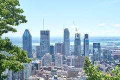 scenic view of summer Montreal stock photography