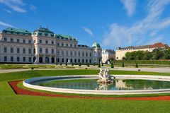 Summer palace Belvedere in Vienna Stock Photos