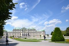 Summer palace Belvedere in Vienna Royalty Free Stock Photos