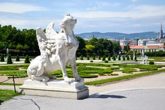 Summer palace Belvedere in Vienna Stock Images