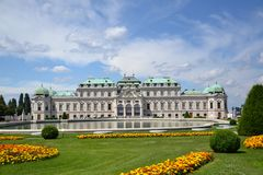Summer palace Belvedere in Vienna Stock Image
