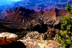 Scenic view of sunrise in Grand Canyon national park, Arizona, USA royalty free stock image
