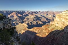 View of sunrise in Grand Canyon national park, Arizona, USA stock images