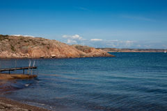 Scenic view of swedish coast. A small beach on one of the many islands in western Sweden Stock Images