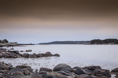 Scenic view of swedish coast. Scenic view of the swedish coast at dawn Royalty Free Stock Images