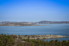 Scenic view of swedish coast. Scenic view from a hill on swedish coast Stock Photo