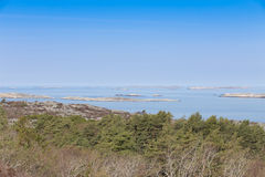 Scenic view of swedish coast. Scenic view from a hill on swedish coast Stock Photography