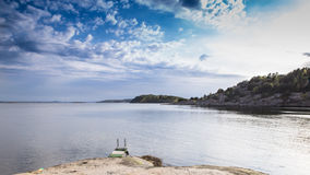 Scenic view of swedish coast Royalty Free Stock Photo