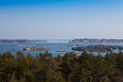 Scenic view of swedish coast. Scenic view from a hill on swedish coast Royalty Free Stock Photography