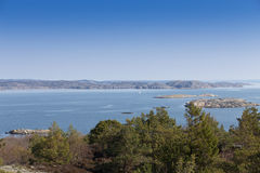 Scenic view of swedish coast. Scenic view from a hill on swedish coast Royalty Free Stock Photos