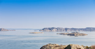 Scenic view of swedish coast. Scenic view from a hill on swedish coast royalty free stock photo