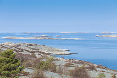 Scenic view of swedish coast. Scenic view over the swedish coast Stock Photography