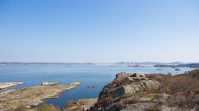 Scenic view of swedish coast Royalty Free Stock Images