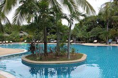 Scenic view of the swimming pool, Koh Samui Royalty Free Stock Photo