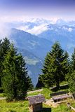 Scenic View of Swiss Alps Mountains Royalty Free Stock Images