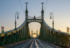 Scenic view of Liberty Bridge at Budapest royalty free stock image