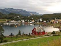 Talvik Fjord Town Harbour Norway 4 stock photo