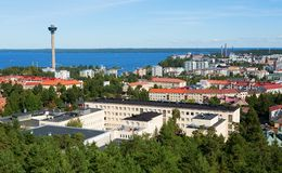 Scenic view of Tampere from Pyynikki tower Stock Photo
