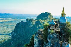 Scenic View from the Temple Royalty Free Stock Images