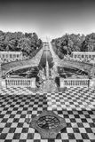 Scenic view from the terrace of Peterhof Palace, Russia Royalty Free Stock Photography