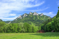 Scenic view of the Three Crowns peak in Pieniny mountain reserve in Poland Royalty Free Stock Photography