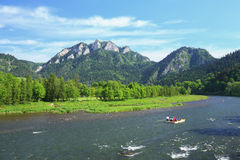 Scenic view of the Three Crowns peak in Pieniny mountain reserve in Poland Stock Images