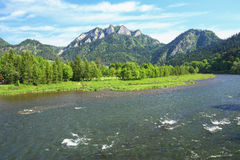 Scenic view of the Three Crowns peak in Pieniny mountain reserve in Poland Royalty Free Stock Photo