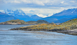 A Scenic view of Tierra del Fuego National Park, Argentina Stock Image