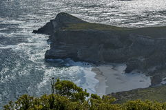 Scenic view to diaz beach of Cape of good hope Royalty Free Stock Photography