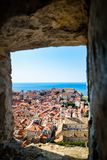 Kings landing and harbour from above Dubrovnik stock photo