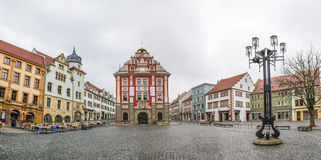 Scenic view to old town hall in Gotha Royalty Free Stock Photo