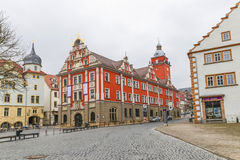 Scenic view to old town hall in Gotha Stock Photography