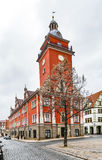 Scenic view to old town hall in Gotha Stock Photo