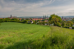 Scenic view to oldtown in bamberg Stock Photos